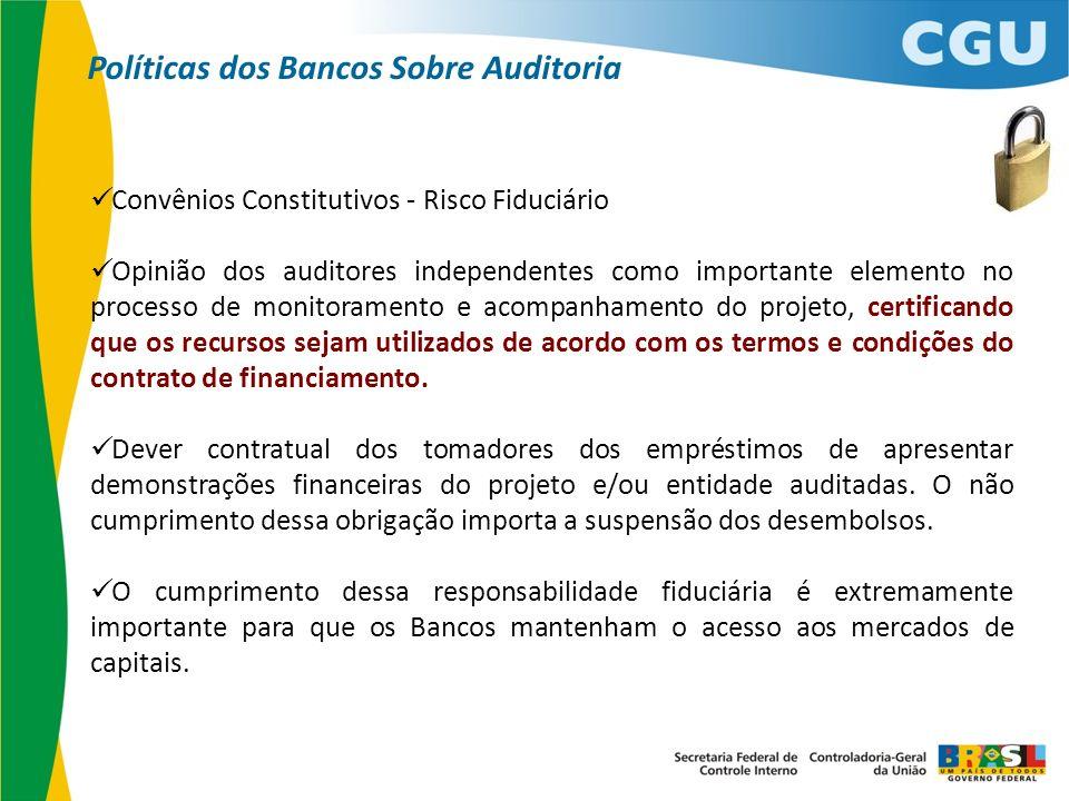 Convênios Constitutivos - Risco Fiduciário Opinião dos auditores independentes como importante elemento no processo de monitoramento e acompanhamento