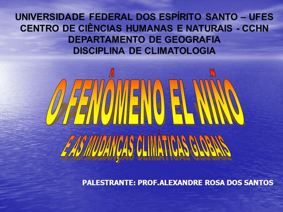 UNIVERSIDADE FEDERAL DOS ESPÍRITO SANTO – UFES CENTRO DE CIÊNCIAS HUMANAS E NATURAIS - CCHN DEPARTAMENTO DE GEOGRAFIA DISCIPLINA DE CLIMATOLOGIA PALES