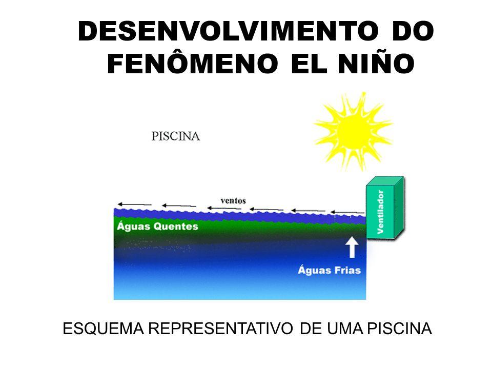 DESENVOLVIMENTO DO FENÔMENO EL NIÑO ESQUEMA REPRESENTATIVO DE UMA PISCINA