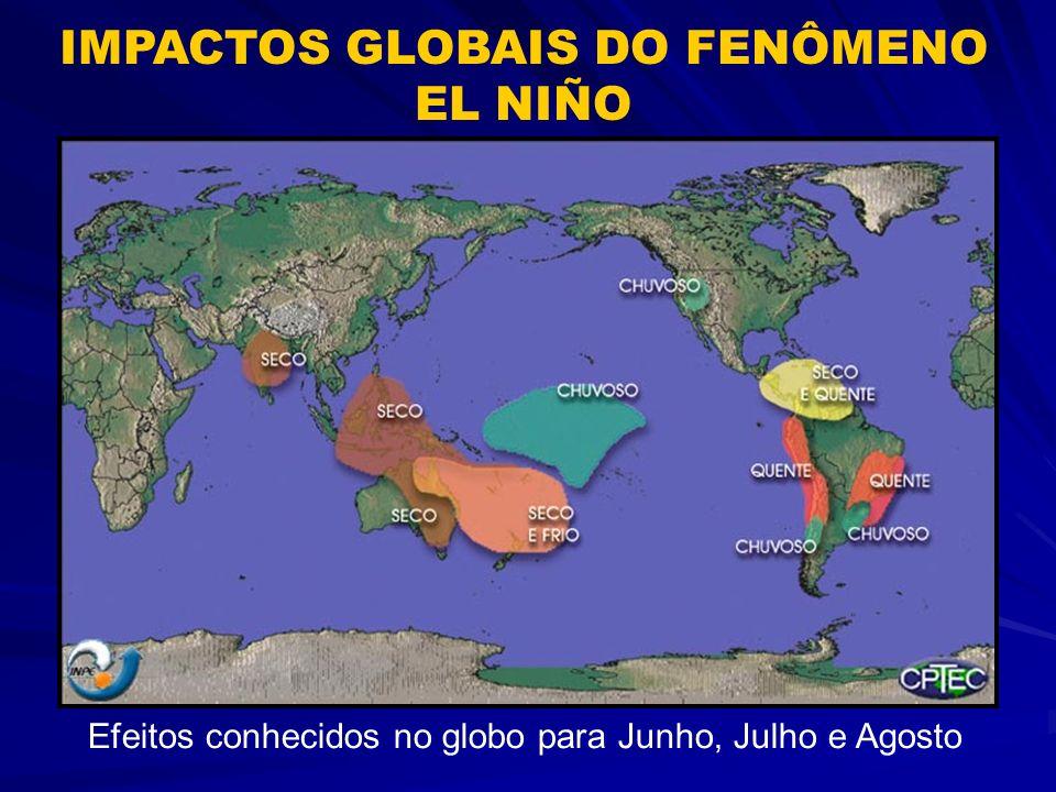 Efeitos conhecidos no globo para Dezembro, Janeiro e Fevereiro