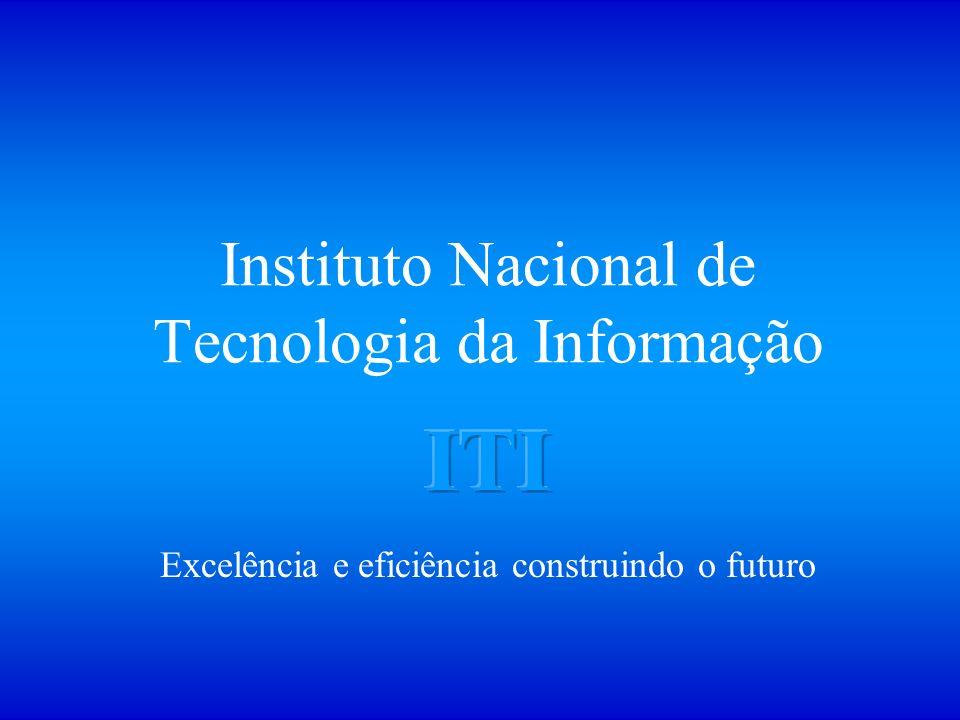 Instituto Nacional de Tecnologia da Informação Excelência e eficiência construindo o futuro