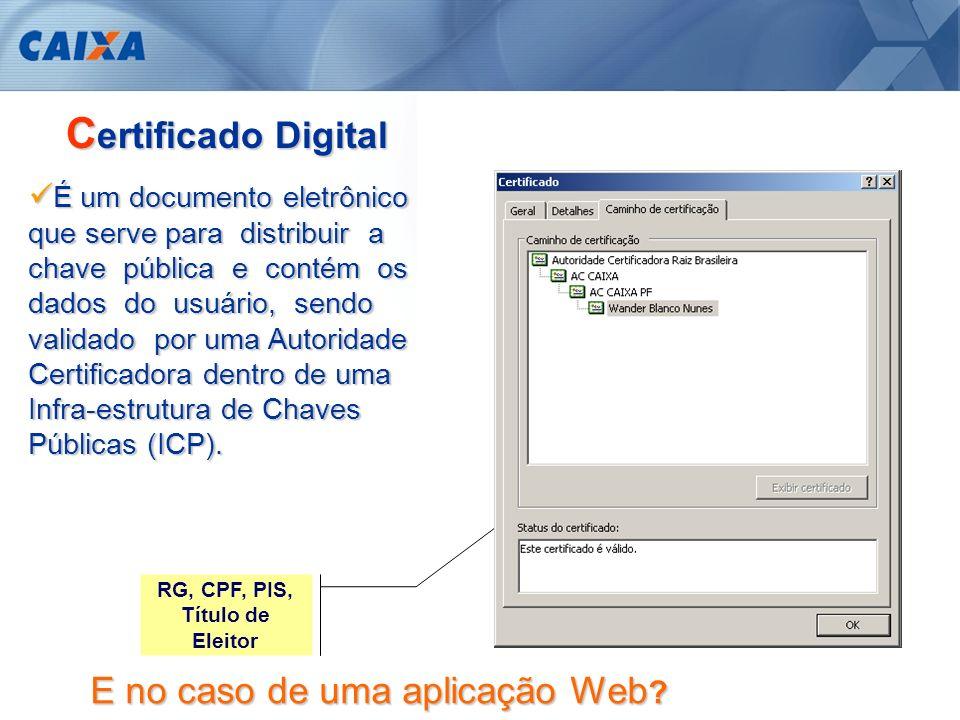 Permite ao cliente a confirmação da identidade do site que está sendo acessado.