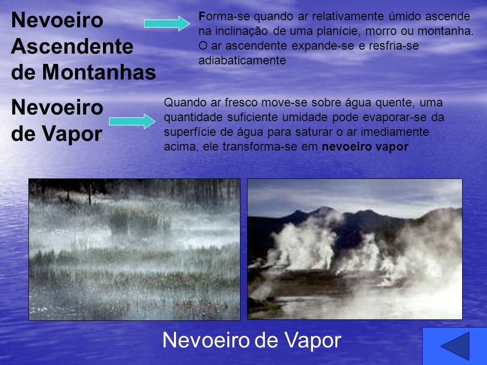 Forma-se quando ar relativamente úmido ascende na inclinação de uma planície, morro ou montanha. O ar ascendente expande-se e resfria-se adiabaticamen
