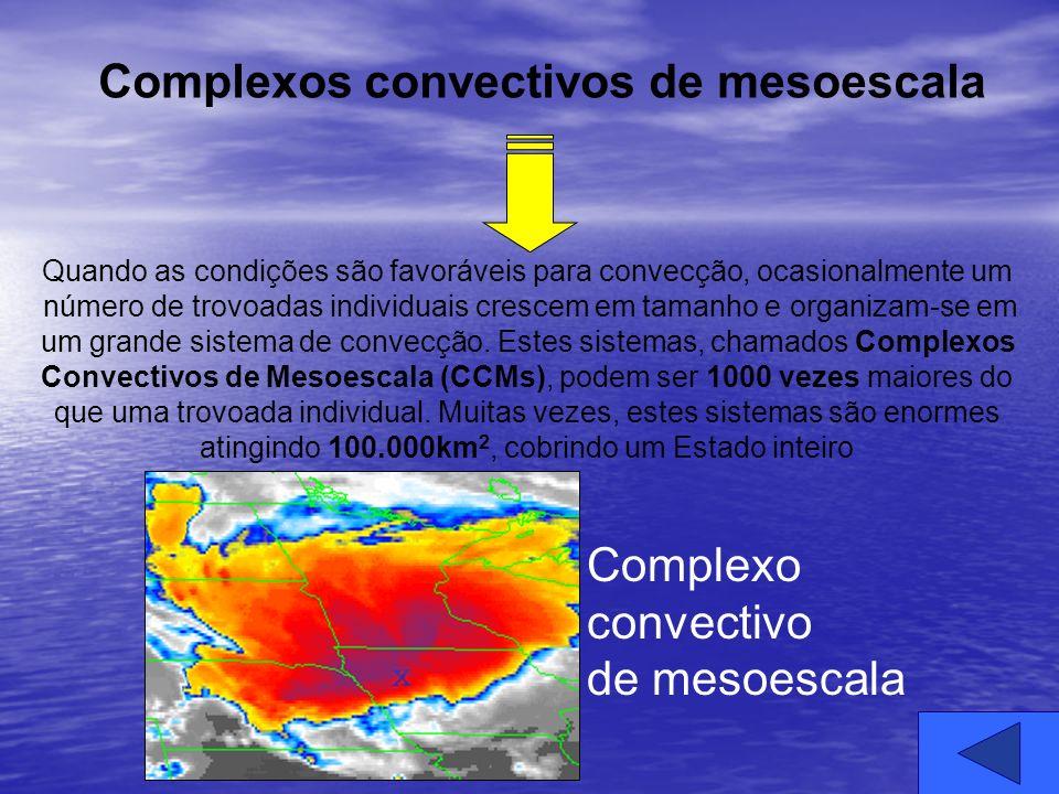 Quando as condições são favoráveis para convecção, ocasionalmente um número de trovoadas individuais crescem em tamanho e organizam-se em um grande si