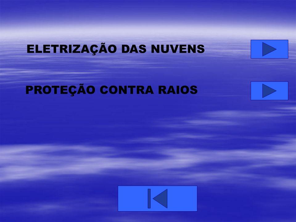ELETRIZAÇÃO DAS NUVENS PROTEÇÃO CONTRA RAIOS