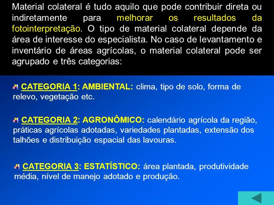 CATEGORIA 1: AMBIENTAL: clima, tipo de solo, forma de relevo, vegetação etc.