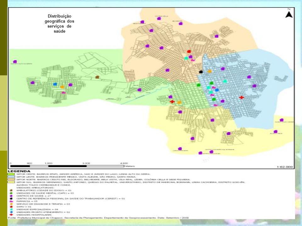 Rede Municipal de Saúde 25 Centros de Saúde da Família 2 Centros Integrados de Saúde 2 Pronto Atendimentos 3 Unidades de Saúde Mental Serviços Especia