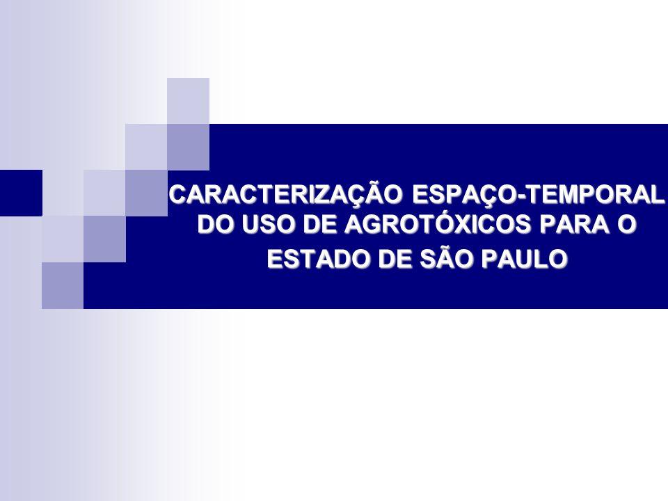 CARACTERIZAÇÃO ESPAÇO-TEMPORAL DO USO DE AGROTÓXICOS PARA O ESTADO DE SÃO PAULO