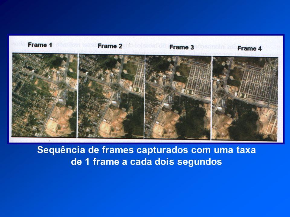Sequência de frames capturados com uma taxa de 1 frame a cada dois segundos