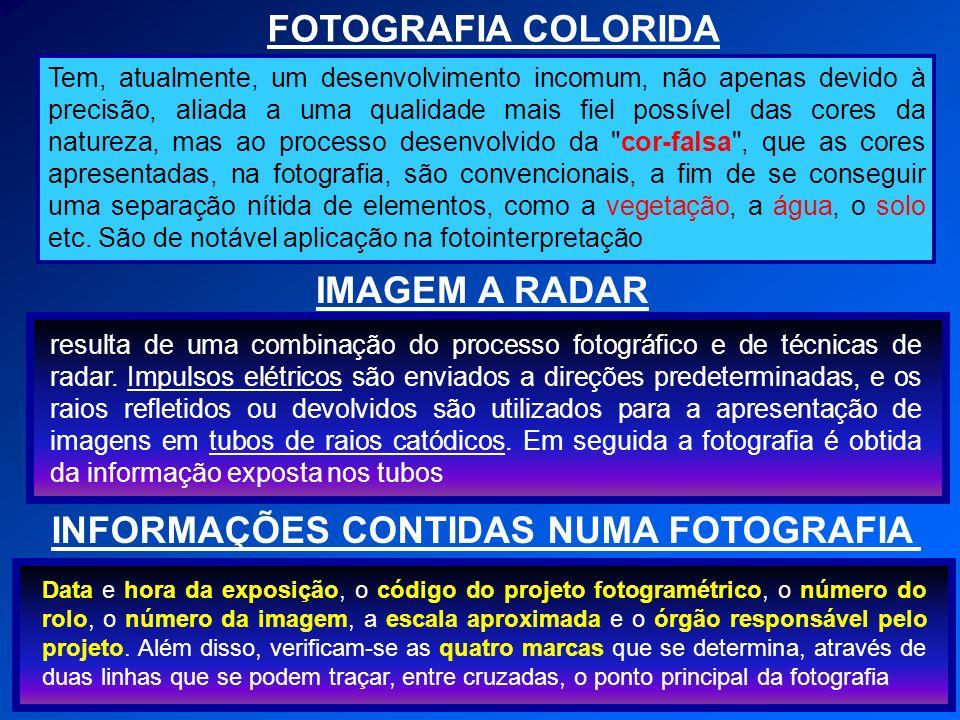 COBERTURA AEROFOTOGRAMÉTRICA Chama-se Cobertura Aerofotogramétrica ao conjunto de operações necessárias para obtenção destas fotos ou ao conjunto de fotos que superpõe e representam a área voada.