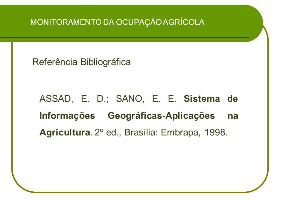 MONITORAMENTO DA OCUPAÇÃO AGRÍCOLA Referência Bibliográfica ASSAD, E.
