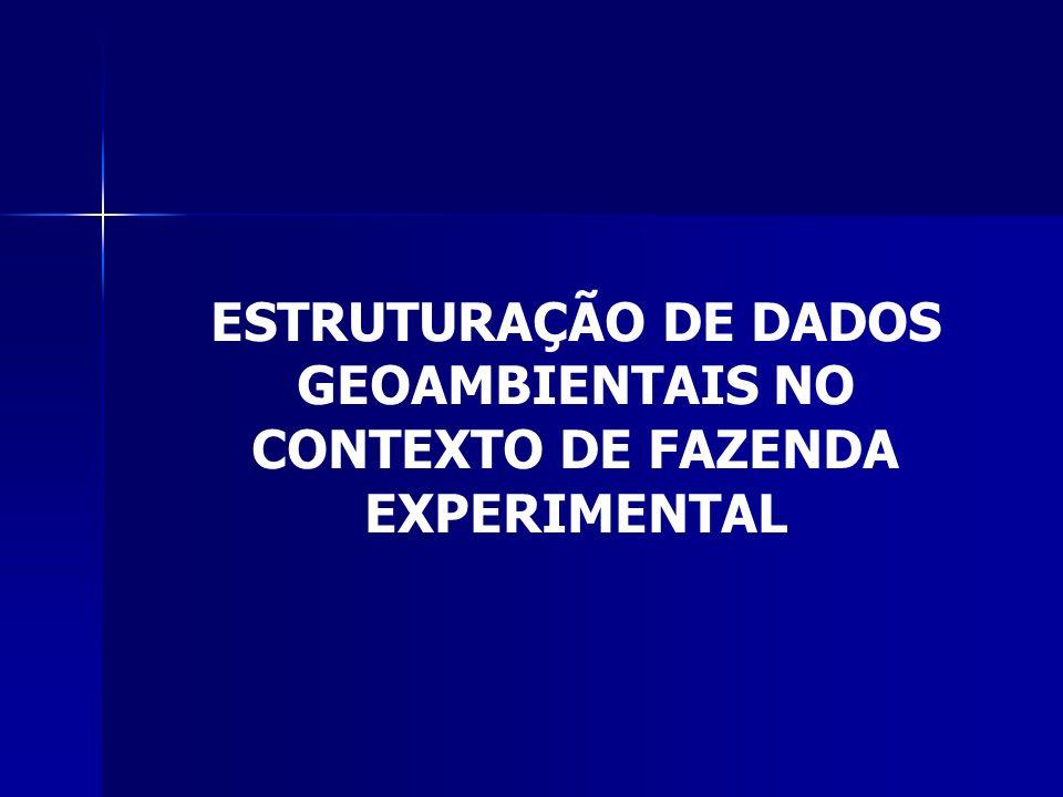 ESTRUTURAÇÃO DE DADOS GEOAMBIENTAIS NO CONTEXTO DE FAZENDA EXPERIMENTAL