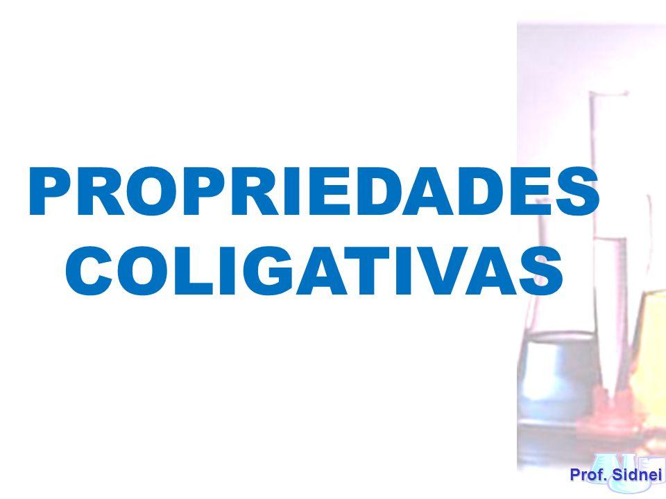 Um efeito coligativo é uma modificação em certas propriedades de um solvente quando nele adicionados um soluto não-volátil, a qual depende do número de partículas (moléculas ou íons) dissolvidas e da temperatura .