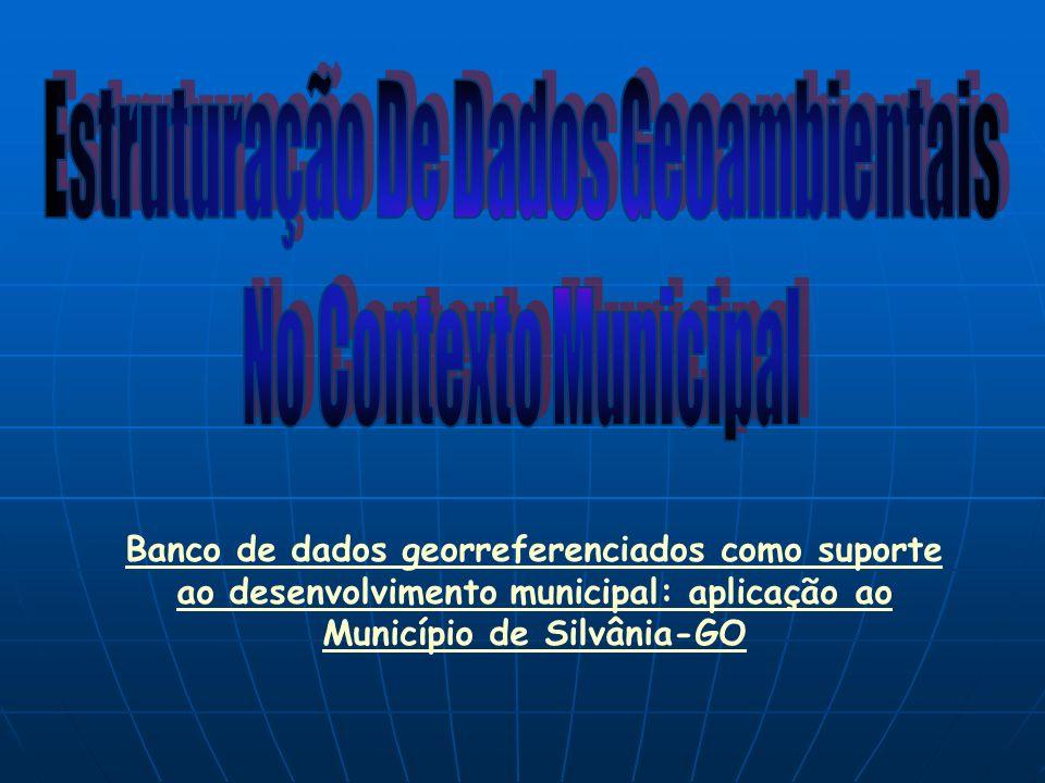 Banco de dados georreferenciados como suporte ao desenvolvimento municipal: aplicação ao Município de Silvânia-GO