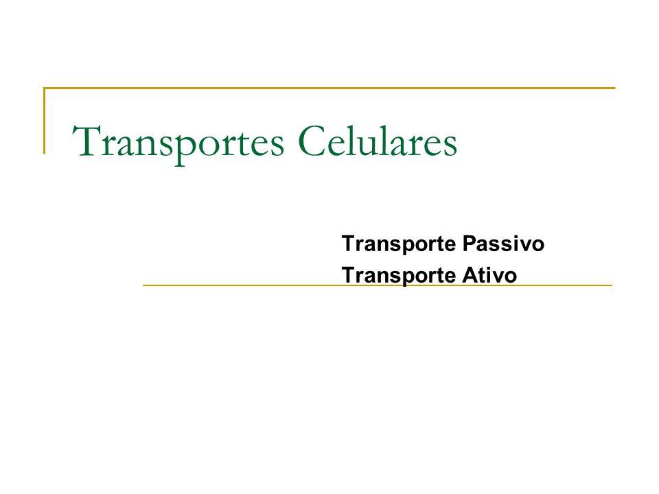 Transporte Passivo Transporte Ativo Transportes Celulares