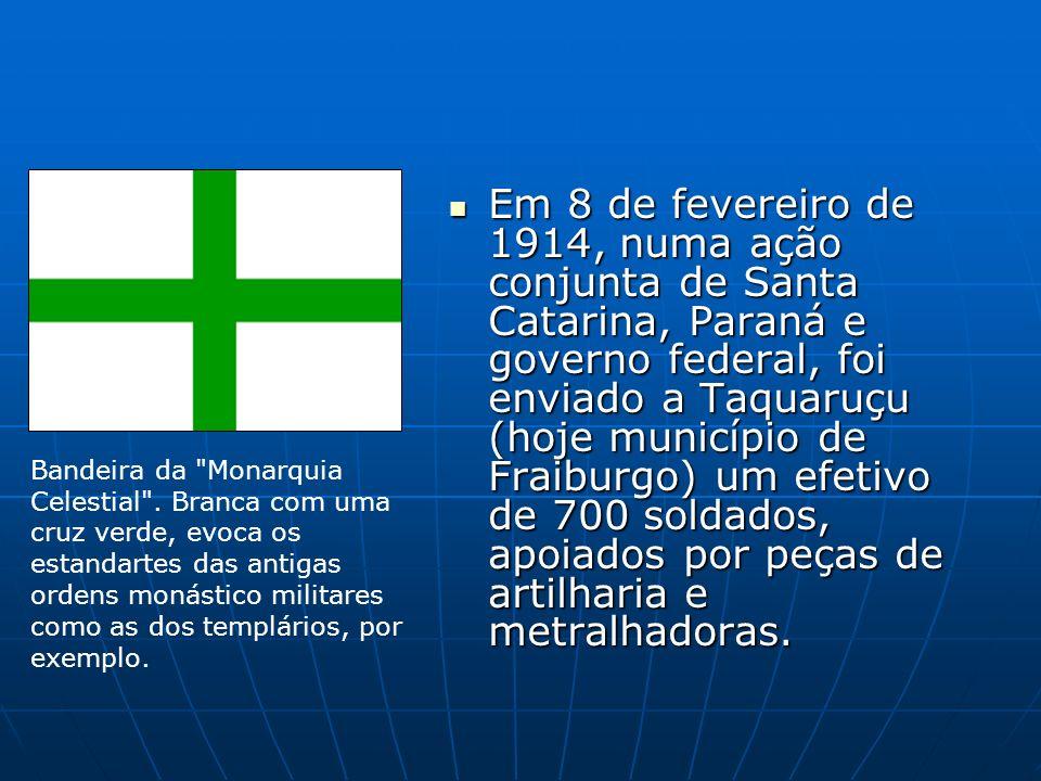 Em 8 de fevereiro de 1914, numa ação conjunta de Santa Catarina, Paraná e governo federal, foi enviado a Taquaruçu (hoje município de Fraiburgo) um ef