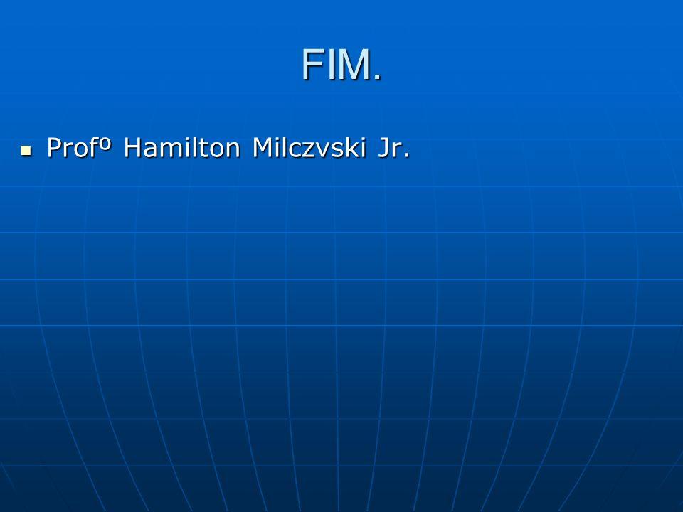 FIM. Profº Hamilton Milczvski Jr. Profº Hamilton Milczvski Jr.