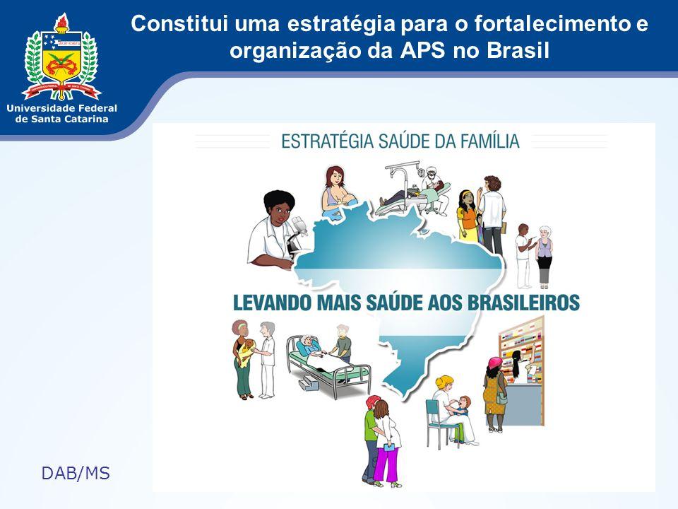 Constitui uma estratégia para o fortalecimento e organização da APS no Brasil DAB/MS