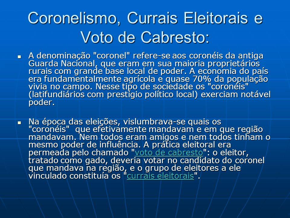 Coronelismo, Currais Eleitorais e Voto de Cabresto: A denominação