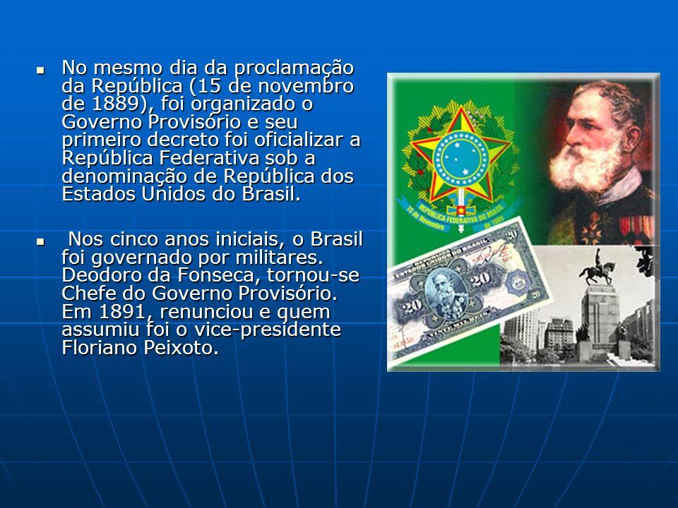 A República Velha: O período que vai de 1889 a 1930 é conhecido como a República Velha.