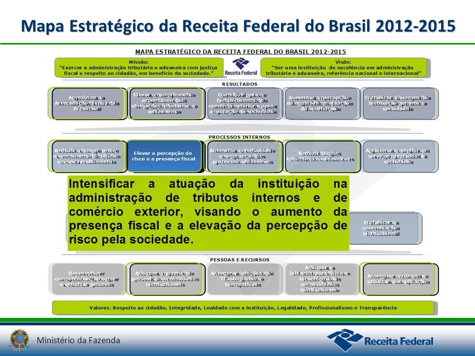 Ministério da Fazenda Mapa Estratégico da Receita Federal do Brasil 2012-2015