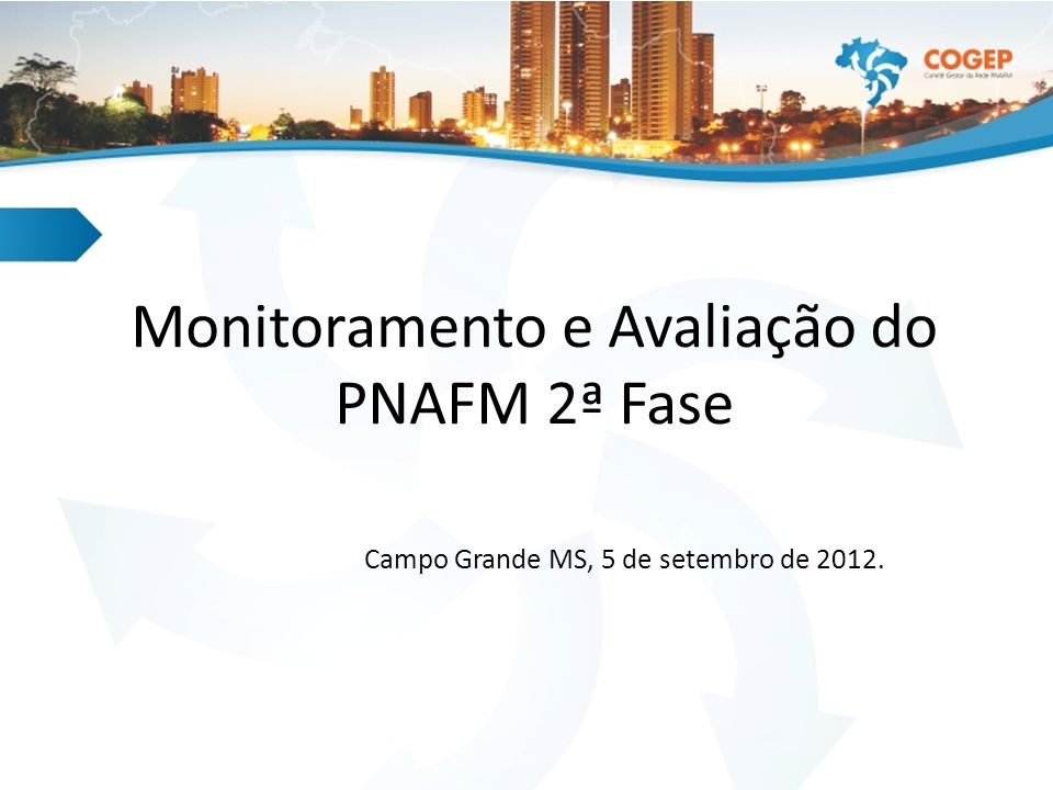 O Regulamento Operacional (ROP) do PNAFM 2ª Fase, no item 7, trata do monitoramento, avaliação e auditoria dos projetos contratados e informa que uma das formas previstas para o monitoramento é a utilização de Relatório de Progresso.