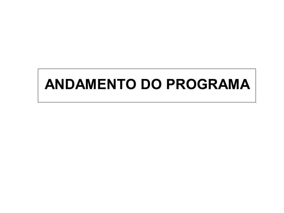 ANDAMENTO DO PROGRAMA