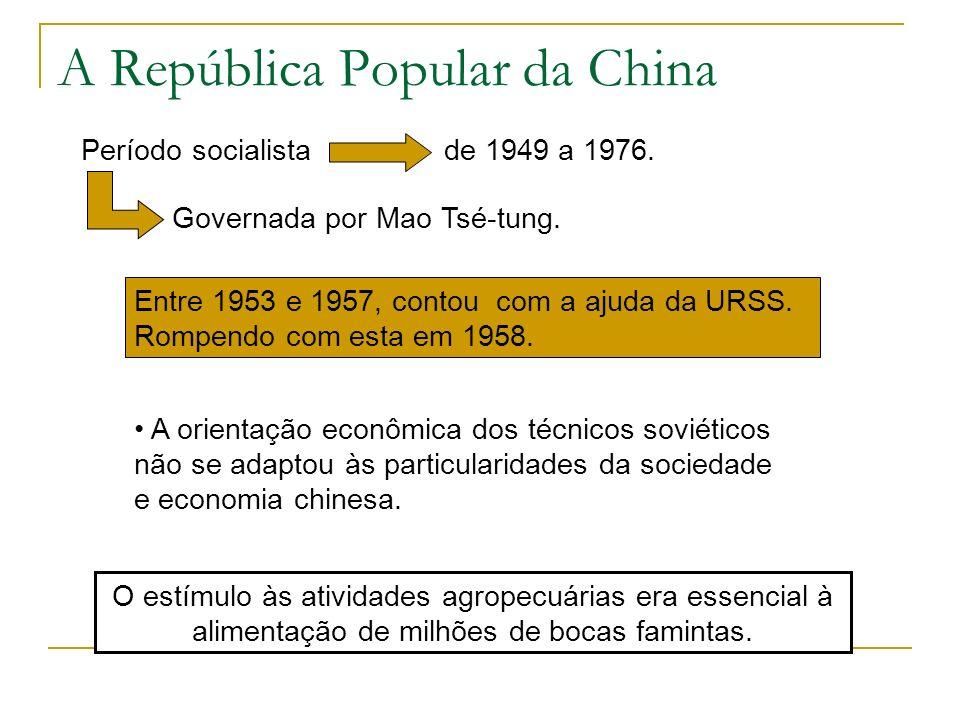 A República Popular da China O estímulo às atividades agropecuárias era essencial à alimentação de milhões de bocas famintas. Período socialista de 19