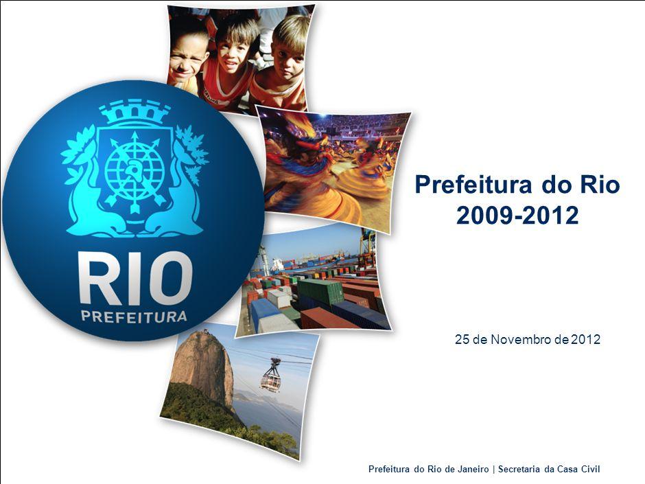 Prefeitura do Rio de Janeiro | Secretaria da Casa Civil DescriçãoLimiteDez/2008Dez/2011Previsto 2012 (4) Dívida Consolidada Bruta-R$ 8.716.207 milR$ 10.521.005 milR$ 10.727.497 mil (RCL) Receita Corrente Líquida (LRF) de 12 meses R$ 9.666.783 milR$ 14.160.729 milR$ 14.724.326 mil (RLR) Receita Líquida Real (MP 2185-35) de 12 meses -R$ 7.369.056 milR$ 11.134.049 milR$ 11.577.185 mil Comprometimento médio dos encargos com dívida / RCL 11,5% (2) 10,5%5,06%4,90% Dívida Consolidada Bruta / RLR100% (3) 118%80%83% Dívida Consolidada Líquida / RCL120% (1) 58%48%54% 10 (1)Limite da LRF (Lei de Responsabilidade Fiscal), regulado pela Resolução 40/2001 do Senado.; (2)Limite da LRF (Lei de Responsabilidade Fiscal), regulado pela Resolução 43/2001 do Senado.; (3)Limite da MP 2185-35 (regulação dos Municípios que renegociaram dívidas com a União).