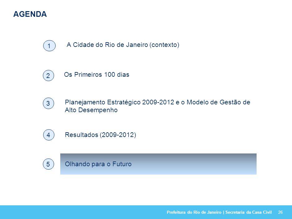 Prefeitura do Rio de Janeiro | Secretaria da Casa Civil NO PERÍODO DO PLANO 2009 – 2012 MAIS DE 80% DOS COMPROMISSOS FORAM ALCANÇADOS OU SUPERADOS. PR
