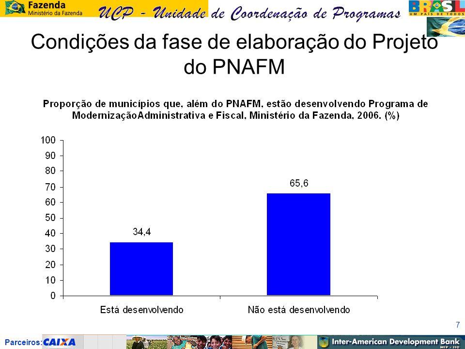 Parceiros: 7 Condições da fase de elaboração do Projeto do PNAFM