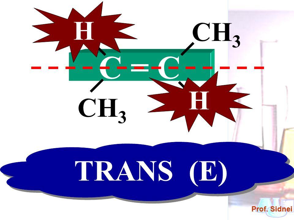 Prof. Sidnei C = C HCH 3 H H H TRANS (E)