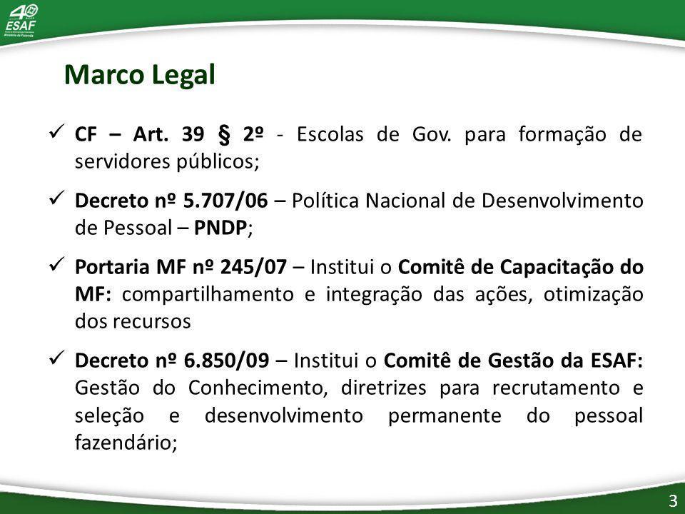 Marco Legal CF – Art.39 § 2º - Escolas de Gov.