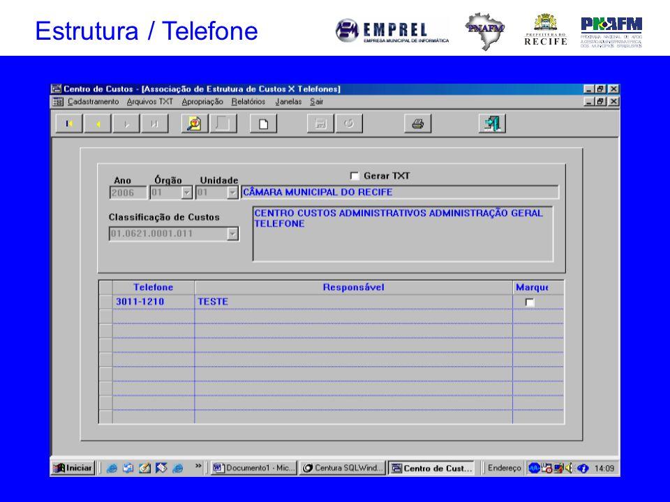 Estrutura / Telefone