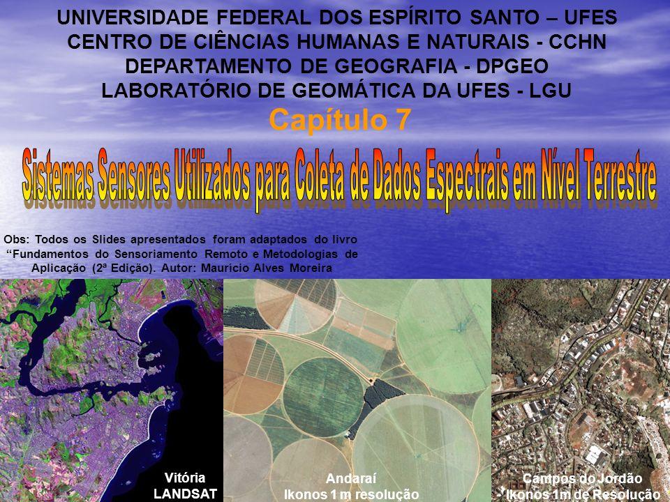 PRINCIPAIS CARACTERÍSTICAS DO LAI-2000 Faixa de operação: 320 a 490 nm.