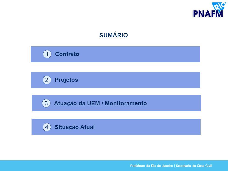 Prefeitura do Rio de Janeiro | Secretaria da Casa Civil 3 SUMÁRIO Contrato 1 Projetos 2 Características 3 Projetos 2 Atuação da UEM / Monitoramento 3 Situação Atual 4
