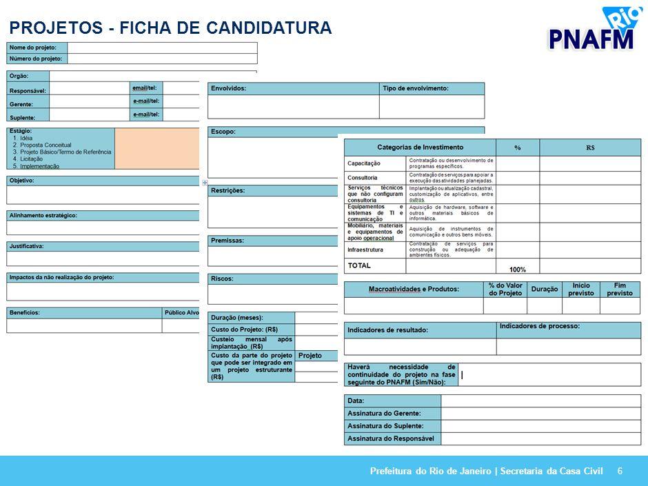 Prefeitura do Rio de Janeiro | Secretaria da Casa Civil16 SITUAÇÃO ATUAL E PROJEÇÕES