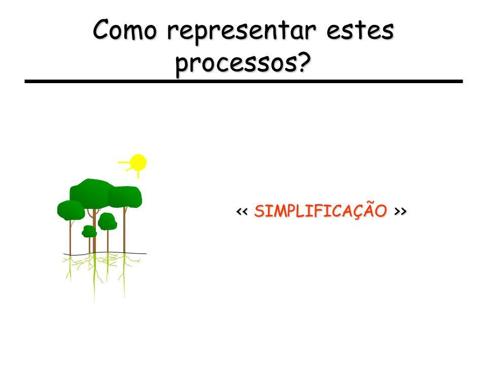 Como representar estes processos? > >