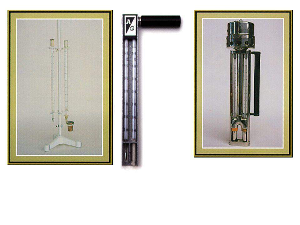 Psicrômetros. (a) aspirado (b) de funda e (c) com ventilação natural. a) b) c)