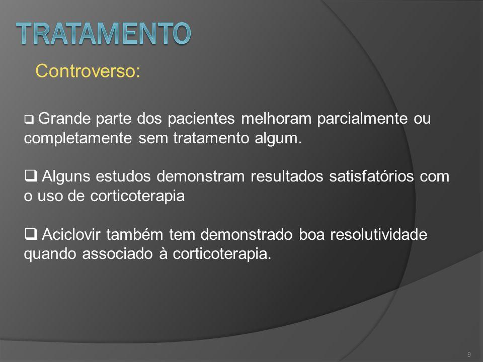 10 Pesquisa do vírus herpes simples na saliva de pacientes com paralisia facial periférica de Bell Revista Brasileira de Otorrinolaringologia; Vol 72; Nº 1; Jan/Fev 2006