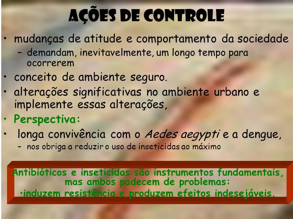 Ações de Controle mudanças de atitude e comportamento da sociedade –demandam, inevitavelmente, um longo tempo para ocorrerem conceito de ambiente segu