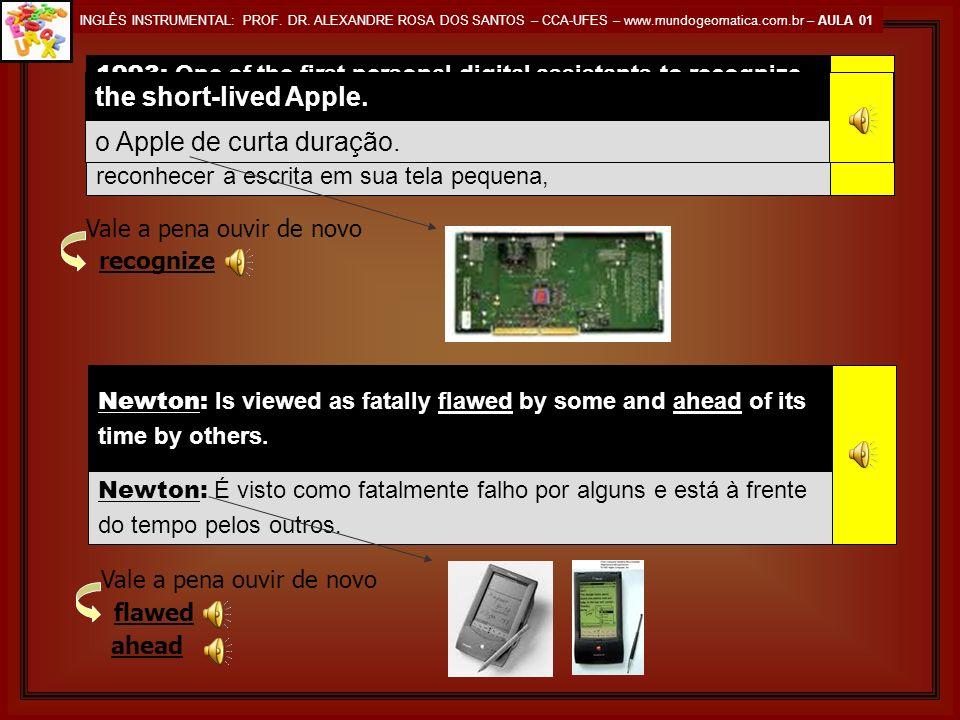 INGLÊS INSTRUMENTAL: PROF. DR. ALEXANDRE ROSA DOS SANTOS – CCA-UFES – www.mundogeomatica.com.br – AULA 01 Its pull-down menus and icons contrast sharp