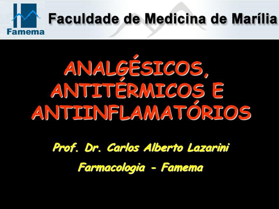 ANALGÉSICOS, ANTITÉRMICOS E ANTIINFLAMATÓRIOS Prof. Dr. Carlos Alberto Lazarini Farmacologia - Famema