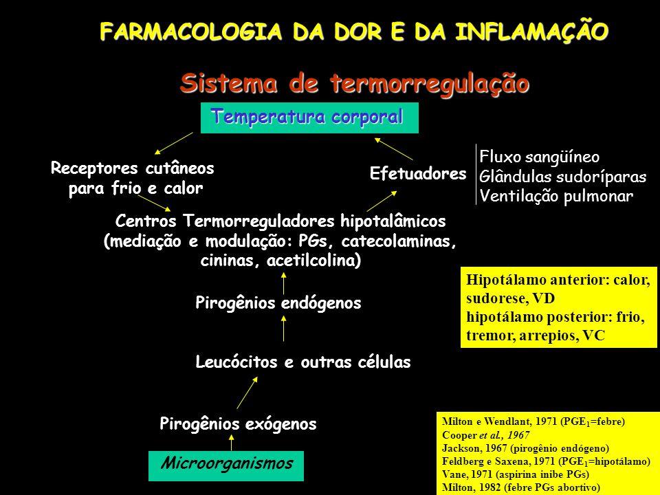 PRINCIPAIS EFEITOS ADVERSOS DOS ANTIINFLAMATÓRIOS dispepsia e úlcera péptica diarréia e hemorragia gastrointestinal disfunção e falência renal (necrose papilar aguda, nefrite intersticial crônica, diminuição do fluxo sangüíneo renal e do ritmo de filtração glomerular e da retenção de sal e água) inibição da agregação plaquetária e aumento do tempo de sangramento alteração dos testes de função renal e icterícia interação com outras drogas