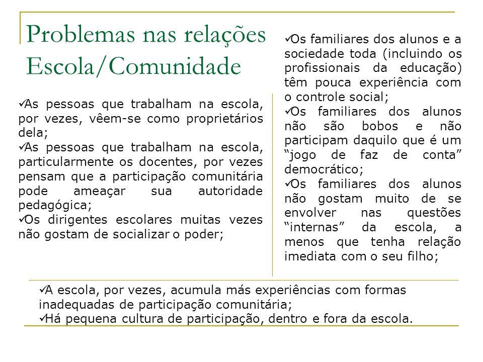 Democratizar o acesso e as condições de oferta ACESSO (INEP 2001) Educação Infantil: Freqüência à escola: 0 - 3 anos (10,6%) 4 -6 anos (65,6%) Déficit: 10 milhões de vagas Ensino fundamental: Tempo médio de permanência: Brasil(8,5) Número médio de séries concluídas: Brasil(6,6) Taxa média de conclusão: Brasil(62%) Taxa de reprovação: Brasil (13,8) CONDIÇÕES DE OFERTA (INEP, 2002): Estabelecimentos de ensino fundamental: Abastecimento de água: 98% Energia elétrica: 95% Biblioteca: 55,6% Laboratório: 19% Quadra de esportes: 48% Alunos por turma: Brasil (26,9) Educação Infantil/Creches (alunos por turma): Brasil (21,8)