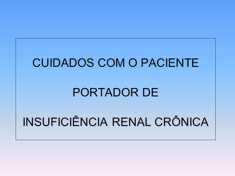 BACKGROUND CAUSAS DA INSUFICIÊNCIA RENAL CRÔNICA TERMINAL (IRCT) REQUERENDO DIÁLISE E TRANSPLANTE NEFROESCLEROSE DA HIPERTENSÃO ARTERIAL GLOMERULO-ESCLEROSE DIABÉTICA