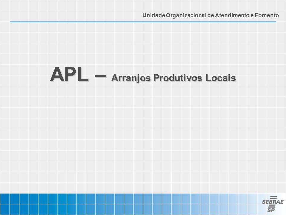 APL – Arranjos Produtivos Locais Unidade Organizacional de Atendimento e Fomento