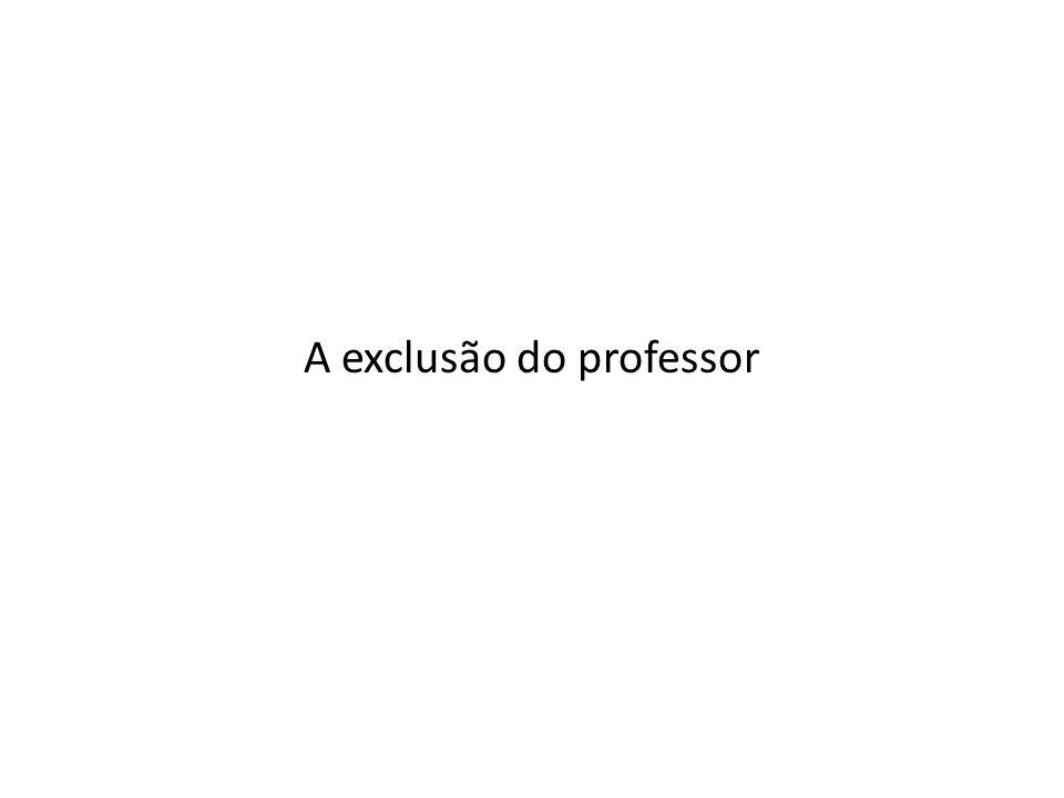A exclusão do professor