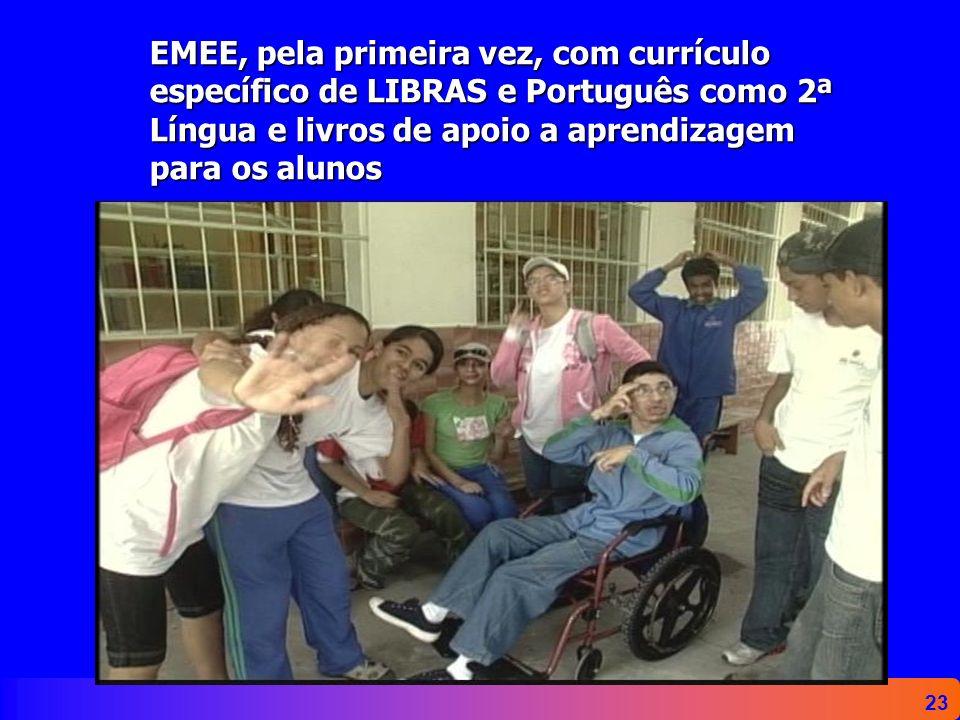 23 EMEE, pela primeira vez, com currículo específico de LIBRAS e Português como 2ª Língua e livros de apoio a aprendizagem para os alunos