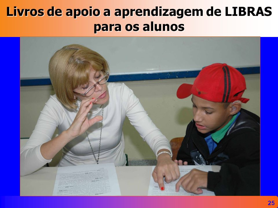 25 Livros de apoio a aprendizagem de LIBRAS para os alunos